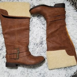 JustFab tall brown boots size 7.5